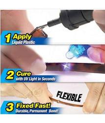 Lagfly Magic Fix & Repair - UV light Activated Super Liquid welding Compound with UV light