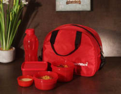 Signoraware 558Red 5 Containers Lunch Box (1830 ml)