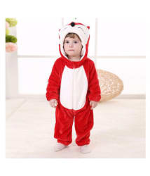 KIDSLOUNGE UNISEX BABY Kidslounge New Fashion Spring Autumn Baby Clothes Flannel Catoon Animal Jumpsuit - fox