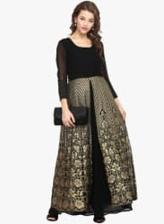 Black Embellished Kurta