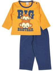 Disney Infants Mustard Round Neck Cotton Full suit