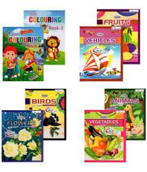 Inikao Multi colour Colouring Book Set of 8