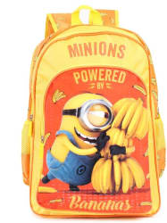 Minion by Kevin with Banana School Bag 16 inches 8901736095150 School Bag (Yellow, 16 inch)
