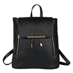 Lychee Bags Women s Black PU Cadence Backpack