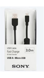 Sony CP-AB300 Micro USB Charging and Transfer Cable (Black)