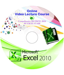 Comprehensive MS EXCEL 2010 ONLINE video Series Recorded Lectures - Online Downloadable Material