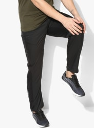 Core-Run Black Running Track Pants