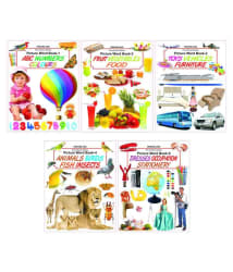 Pre School Picture Word Book - pack (5 Titles)