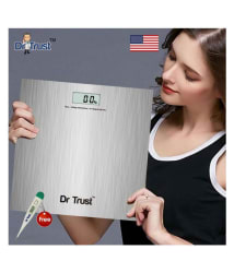 Dr. Trust USA PRECISION Bathroom Weight Machine for Human Body Digital Weighing Scale Silver