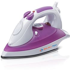 Bajaj Majesty Rave 1250-Watt Steam Iron (White/Purple)
