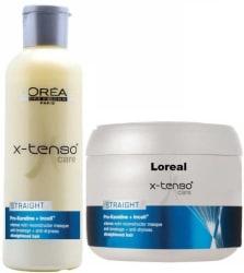 L Oreal Paris X- tenso Care Straight Pro Keratin Shampoo and Mask (Set of 2)