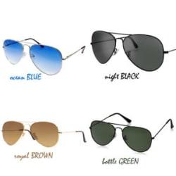 Sunglasses Rider Aviator Style Night Black for Men & Women