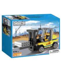 Webby Forklift Engineering Toys for Kids Building Blocks Construction Set, 171 Pieces