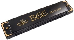 mega star Bee bee Mouth Organ with 48 holes(Black) steel plate (Black)