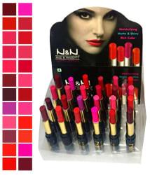 N&N Matte Moisturizing Lipsticks (Pack of 24)