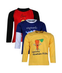 Goodway Junior Boys DYK-3- Red,Royal,Yellow Combo Pack of 3 T-Shirts For Boys