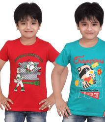 Dongli Smart Boys Printed T-shirt 2 pcs Combo