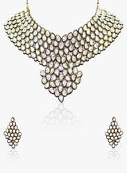 White/Golden 100%Zinc Necklace Set