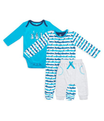 Mini Klub girls sleepsuit, bodysuit and legging set