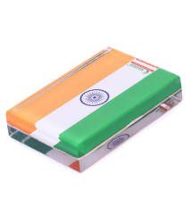 Rasper Tricolor Indian Flag Acrylic Paper Weight (3x2 Inches)