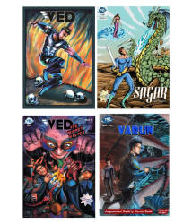 Ved and Varun - 4 Comics Set - Superhero Origin Series