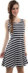 Miss Chase Women Skater Black Dress
