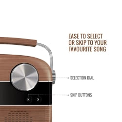 Saregama Carvaan Portable Digital Music Player with Remote- Oakwood Brown