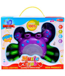 Planet of Toys Multicolour Plastic Musical Crab with Light