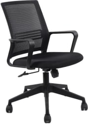 VJ Interior Fabric Office Executive Chair (Black)
