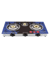 SURYA Crystal Plus 3 Burner Auto Ignition Glass Top Gas Stove