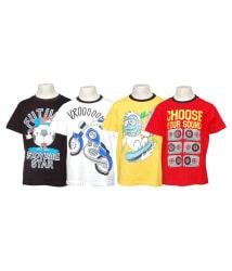 Little Stars Pack Of 4 Multicolour Half Sleeves T-Shirt For Boys