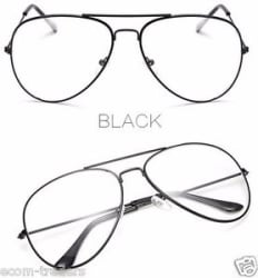 Details about Trendy Classic Fashion Pilot Aviator Sunglasses With Clear Lens Glasses