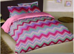 RAYMOND HOME Geometric Double Comforter (COTTON, Pink)