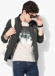Olive Solid Casual Jacket