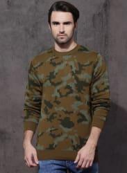 Brown Printed Sweater