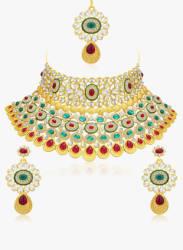 Multicoloured Alloy Necklace Set