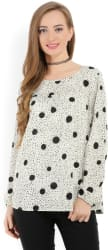 Only Casual Full Sleeve Printed Women s Black, Grey Top