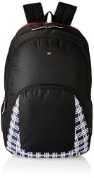 Tommy Hilfiger Newport 17 37.4 Ltrs Black Casual Backpack (TH/BTS01NEW,17)