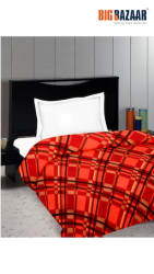Cozy Living Printed Polar Fleece Single Blanket (DSN-02) (Red)