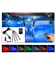 Kingsway Mood Lights Multicolour for Car with Remote - Fits without tampering Electrical system