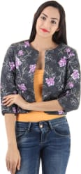 Only Full Sleeve Floral Print Women s Jacket