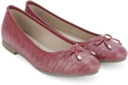 Bata WEAVE BALLERINA Bellies For Women (Red)