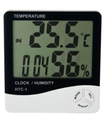 NSAW Thermo-Hygrometer Jumbo Digital (Humidity Meter With Clock Large LCD Display)