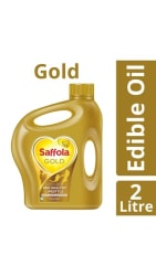 Saffola Gold Edible Oil Jar, 2 L