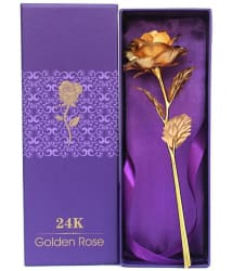 Priyankish Gold Artificial Rose Stems - Pack of 1