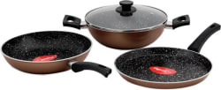 Pigeon Essentials Induction Bottom Cookware Set (Aluminium, 3 - Piece)