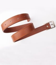 Men s Faux Leather Belt Tan Color with Free shipping