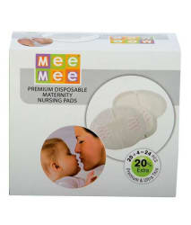 Mee Mee Ultra Thin Super Absorbent Disposable Nursing Breast Pads 20+4 Pads free (24 Pads)