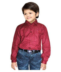 AD & AV COTTON DARK RED SHIRT