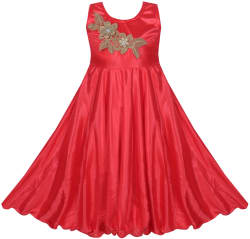 Cute Fashion Baby Girl s Bright Satin Lycra Dresses For